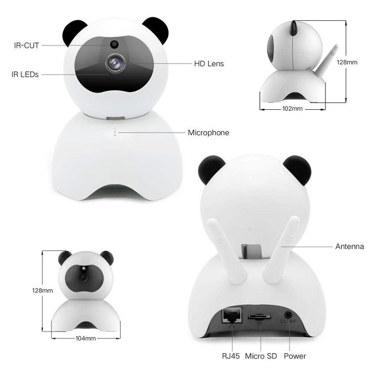 Pet IP Camera for Dog Cat Baby Monitor 1080P Full HD Pet Cameras Connect with iPhone Android WiFi Home Camera with Two Way Audio